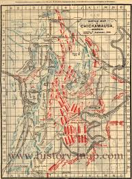 Uga Map Battle Map Of Chickamauga Georgia