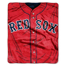 boston sox 50 x60 royal plush raschel throw blanket jersey