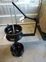 Motorcycle Tire Changer And Balancer My Homemade Tire Changing Stand And Wheel Balancer
