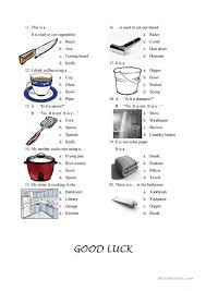 Things In The Bathroom Things In The Kitchen And Bathroom Worksheet Free Esl Printable