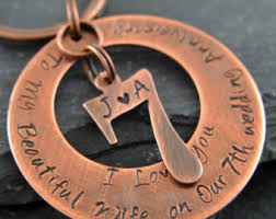 7th anniversary gifts for him personalised gift copper anniversary customised present 7th
