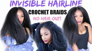 cornrows with no hairline how to slay your crochet braids new invisible hairline method