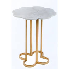 Gold Side Table White Marble Gold Side Table