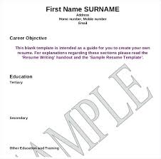 blank sample resume blank resume writing template example
