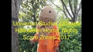 universal studios orlando halloween horror nights 27 scare zones