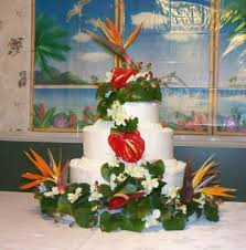 Tropical Themed Wedding Cakes - 11 elegant tropical wedding cakes photo luau wedding cake