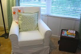 baby nursery simple cozy baby room decoration using white rocking