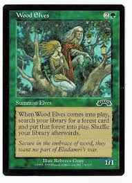 chameleon s den magic the gathering exodus card wood elves