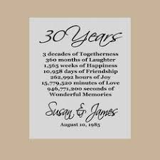 30th anniversary gifts personalized anniversary gift our story time line family
