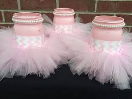 tutu centerpieces for baby shower it s a girl baby shower centerpieceset of 3 pink