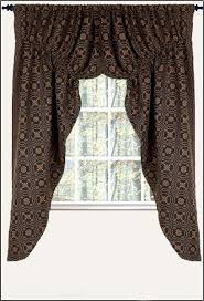 Primitive Swag Curtains New Primitive 63 Black Mustard Knot Coverlet Prairie