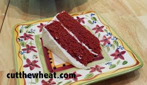 southern style red velvet cake with classic cream cheese frosting