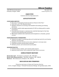 Customer Service Representative Resume Sample for Objective with     Dawtek Resume and Esay