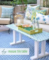 Mosaic Patio Furniture Diy Tile Outdoor Table Centsational Style