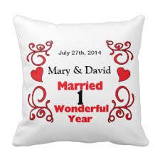 1 yr anniversary 1 year anniversary pillows decorative throw pillows zazzle