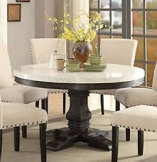 marble top pedestal table new lucia white marble top weathered black wood round pedestal