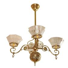 Gas Chandelier Four Arm Gas Chandelier Aesthetic Style Pendant
