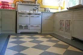 Kitchen Floor Ideas by Flooring Ideas Vintage Kitchen Linoleum Floor With Checkerboard