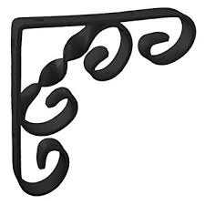 150mm 6 x 6 no 244 ornamental scroll shelf brackets 1 each black