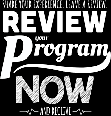 share your experience leave a review an admiration
