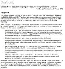 lessons learned report template lessons learnt better evaluation