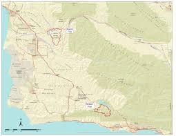 Santa Barbara California Map California And Santa Barbara County Fire U0026 Road Conditions