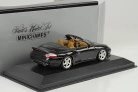 porsche convertible black minichamps 1 43 2003 porsche 911 turbo cabriolet black ebay