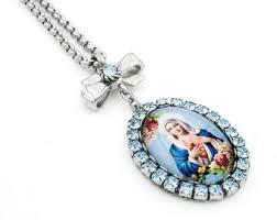 catholic necklace catholic necklace etsy