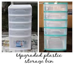 simple interior with cheap plastic storage bins diy and teal