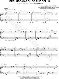 george winston prelude carol of the bells sheet piano