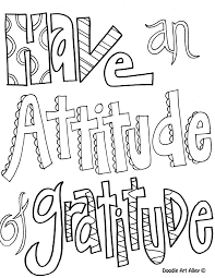 have an attitude of gratitude coloring pages for older kids