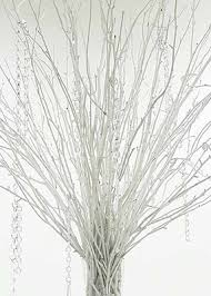 white branches centerpieces