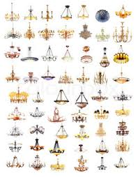 Chandelier Shapes An Image Of 17 Different Shapes Of Chandelier Stock Photo
