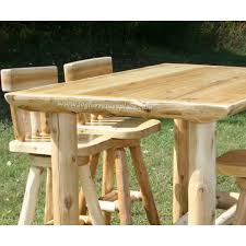 Cedar Table Top by Cedar Log Pub Table By Woodland Creek U0027s Log Furniture Place