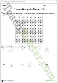 number and place value worksheets year 6 teaching resource