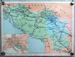 Yugoslavia Map Europe Train Rail Maps