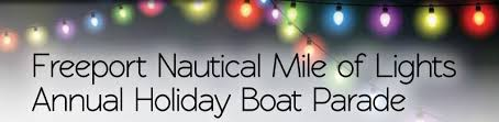 freeport nautical mile of lights annual holiday boat parade