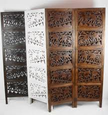 wood room dividers 4 panel heavy duty indian screen wooden elephant screen room