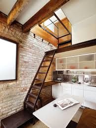 Houses With Lofts by A Compact Three Story Brick Loft In San Francisco Dwell