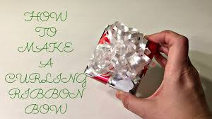 curly ribbon how to make a curling ribbon bow countdown to christmas