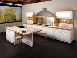 studio kitchen design beautiful white brown wood stainless unique design modern italian