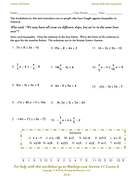 solving multi step inequalities worksheets u2013 wallpapercraft