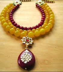 fashion jewelry necklace sets images Fashion jewellery necklace set with red kundan pendant at rs 3200 png