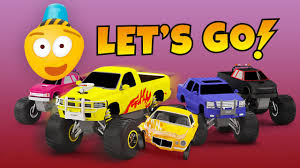 monster truck video for kids monster trucks u0026 derby races cartoon cars for kids educational