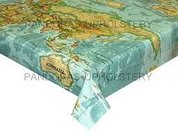 World Map 1500 by Prestigious Textiles Designer Pvc Vinyl Fabric Wipe Clean Oilcloth