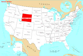 A Map Of The Usa Wyoming On A Map Of The Usa My Blog