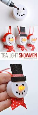 tea light snowman ornaments snowman