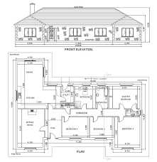 Four Bedroom Bungalow Floor Plan Floor Plan Elevation Bungalow House Homes Zone