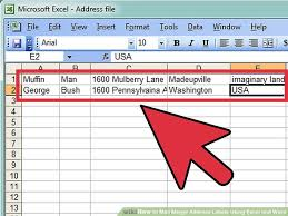 Excel Mail Merge Template How To Mail Merge Address Labels Excel And Word 14 Steps