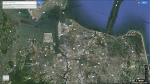 Satellite Map Usa Google Map Of Richmond Virginia Usa Nations Online Project